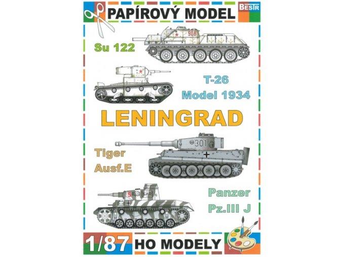 Su 122 + T-26 model 1934 + Tiger Ausf.E + Panzer Pz.III J (Leningrad)