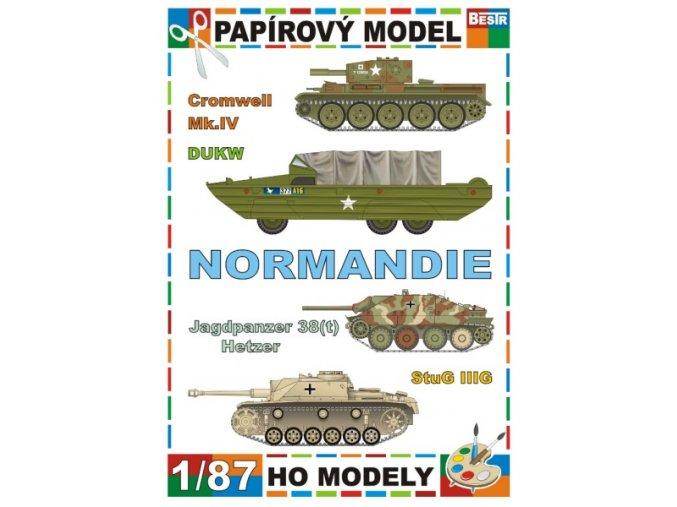 Cromwell Mk.IV + DUKW + Jagdpanzer 38(t) Hetzer + StuG IIIG (Normandie / Normandy)