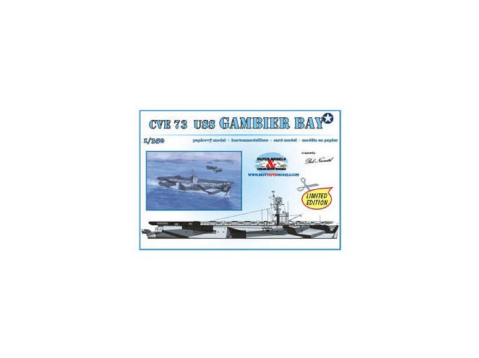 CVE 73 USS Gambier Bay + 6x TBM Avenger