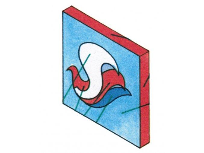 plastický znak k 35. výročí pionýrské organizace