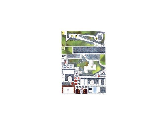 malá městská brána + terén + opěrné zdi