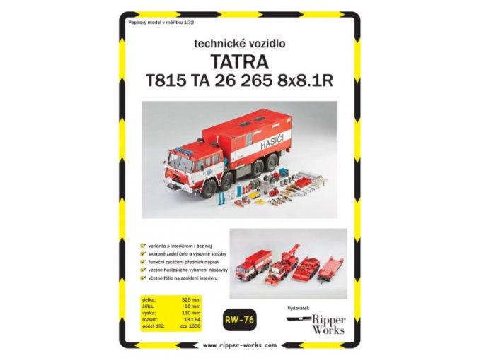 Tatra T815 TA 26 265 8x8.1R - technické vozidlo HZS SŽDC