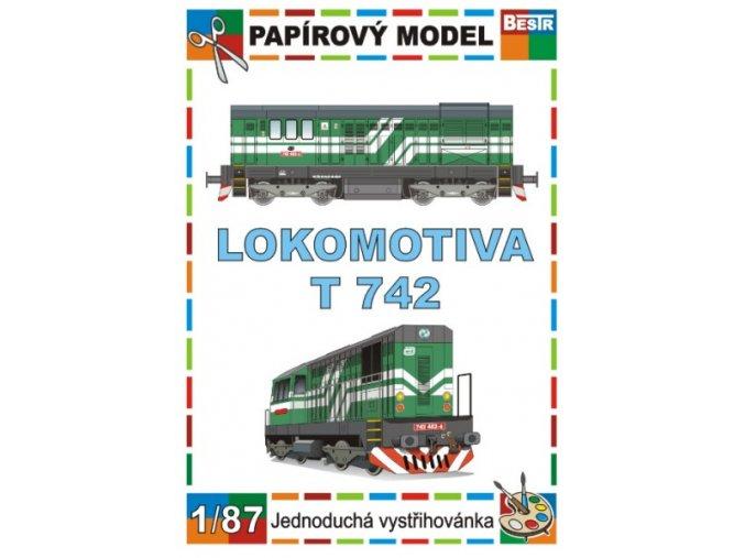 742 - Kocour - dieselová lokomotiva řady (ex T 466.2)