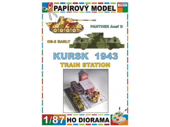 Panther Ausf.D + OB-3 Early (Kursk 1943 - Železniční stanice / Train station)