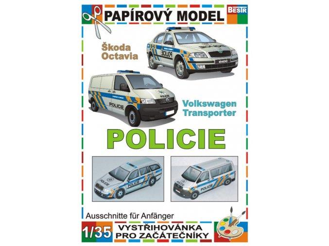 Škoda Octavia + Volkswagen Transporter (Policie)