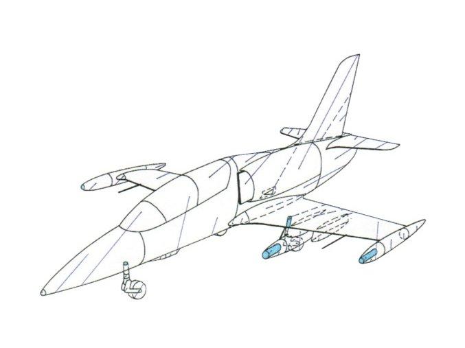 Aero L-39ZA Albatros + soubor neřízených střel