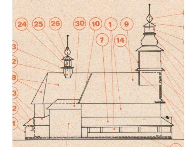 kostel v Sedlišti + zvonice v Ostrovci u Zbiroha