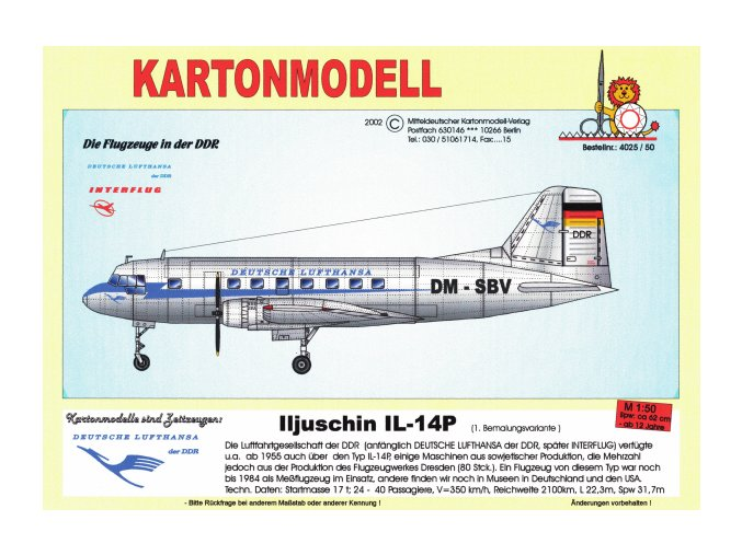 Iljušin Il-14P - DM-SBV