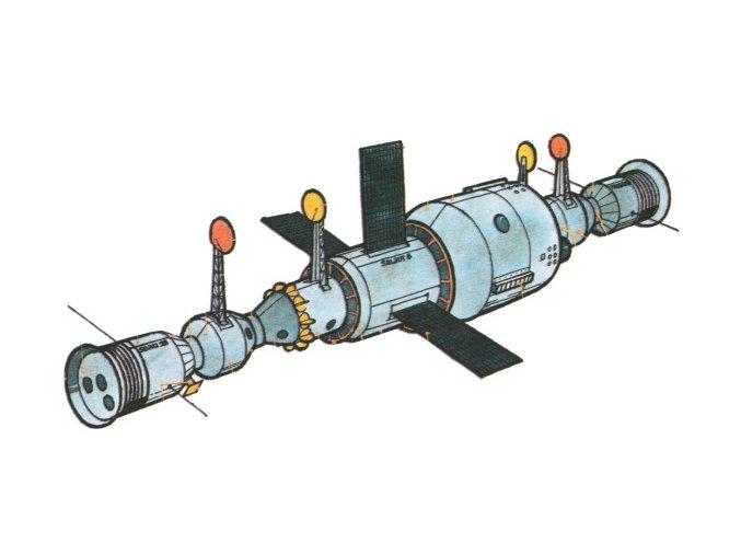 Sojuz 28 + Saljut 6 + Progres 1