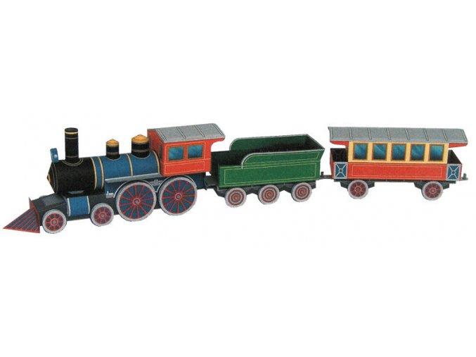 parní lokomotiva + vagony