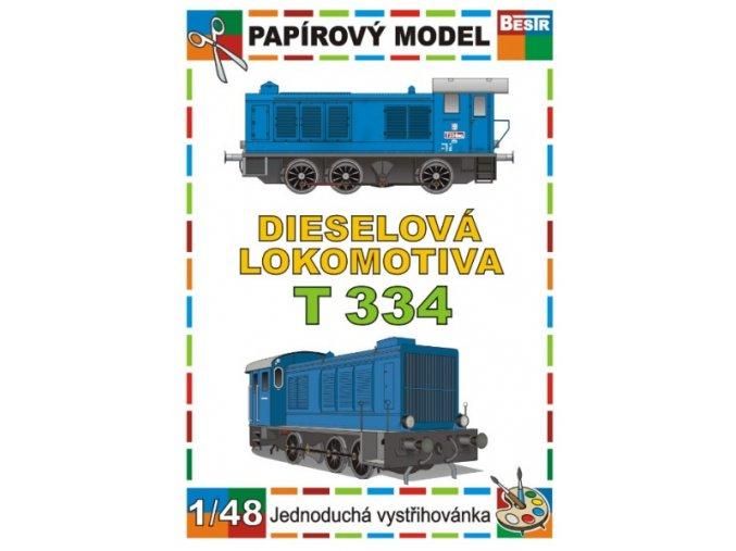 T 334 - dieselová lokomotiva (ex WR-360)