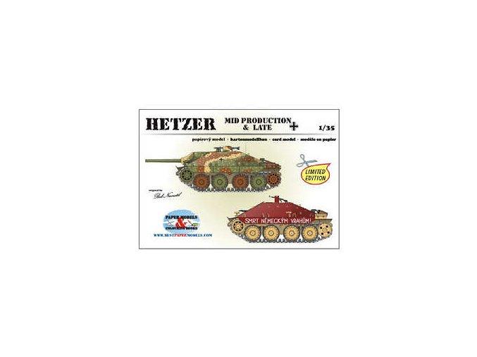 Jagdpanther 38(t) Hetzer - 2 různé verze