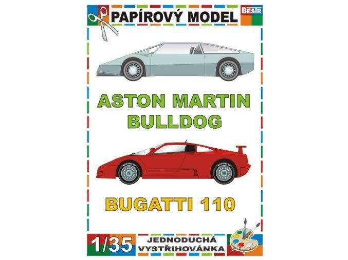 Aston Martin Bulldog + Bugatti 110