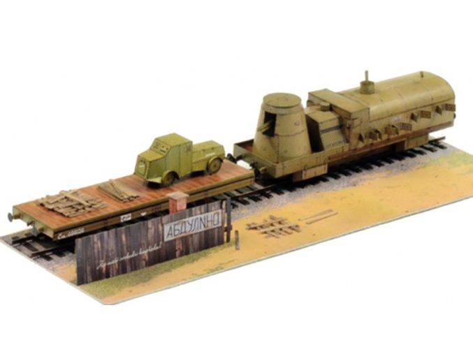 Československé legie v Rusku 1919 - obrněný vlak Orlík