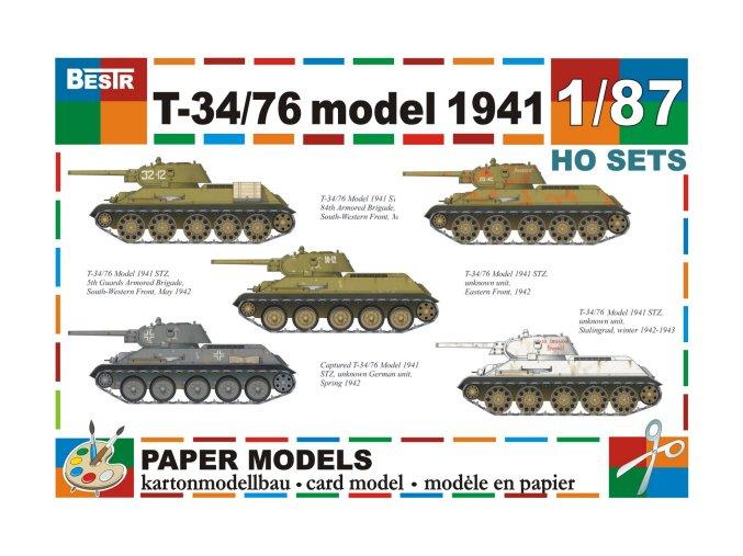 Ruský tank T-34/76 (1941) - 5 různých verzí