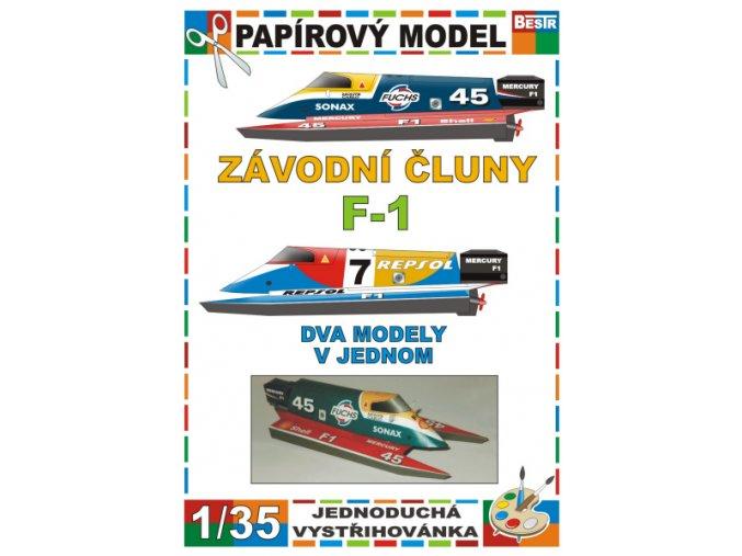 Závodní čluny F-1 (2 ks)