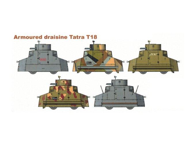 Obrněná drezína Tatra T-18 - 5 různých verzí