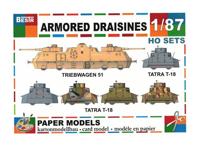 Armored draisines - Triwbwagen 51 + 5 různých verzí Tatra T-18