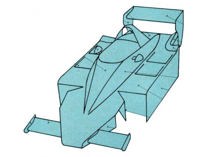 Lotus 79 - dráhový model z papíru
