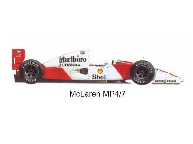 McLaren MP 4/7A - 1992