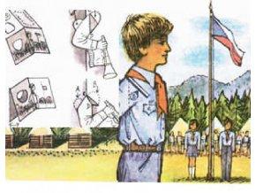 prostorová pohlednice Pionýři - 1982