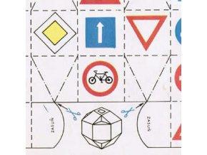 skládaná koule s dopravními značkami