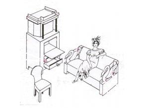 Na návštěvě u prababičky - měšťanský pokoj 1860 - komplet