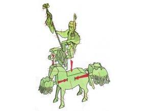 Vlčnovský šohaj na koni