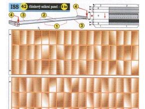 článkový solární panel (42 zlatý 1x)