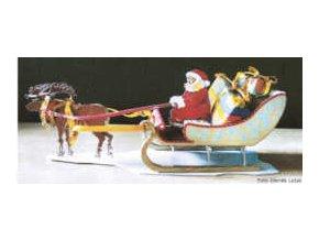 Vánoční spřežení Santa Klause