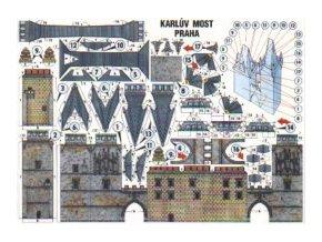 pohled - Karlův most - Malostranská věž