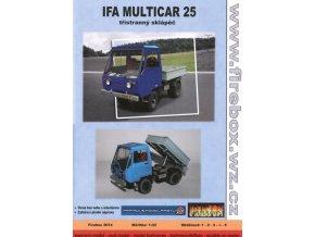 Ifa Multicar 25 - třístranný sklápěč