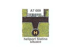 Heliport Slatina, situace