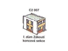 Řadový dům Zákoutí - koncová sekce