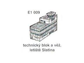 Technický blok a věž, letiště Slatina