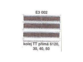 Kolej TT přímá 6120, 30, 40, 50