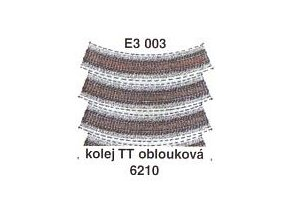 Kolej TT oblouková 6210