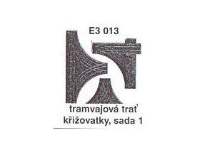 Tramvajová trať křižovatky, sada 1
