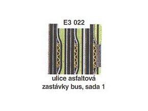 Ulice asfaltová - zastávky bus, sada 1