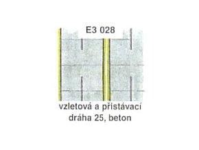 Vzletová a přistávací dráha 25, beton