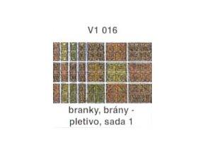 Branky, brány - pletivo, sada 1