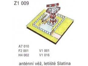 Anténní věž, letiště Slatina