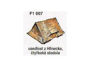 Usedlost z Hlinecka, čtyřboká stodola