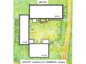Holetín - usedlost čp. 6 Teznerovi - situace