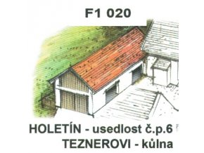 Holetín - usedlost čp. 6 Teznerovi - kůlna