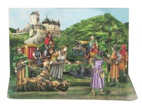 Král Karel před Karlštejnem