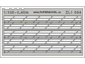 lodní zábradlí třířadé skloněné 45° 1:100