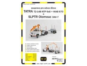 Tatra T2-148 NTP 6x6 + HIAB 670 + DAV-7