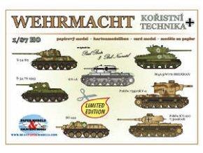 Wehrmacht - kořistní technika -- T-34/85, M4A3(W)76 Sherman, T-34/76 1943, KV-1A, PzKfw.754(r)KV-2, SU-122, PzKfw.KV-1(r) 7,5cmKwK