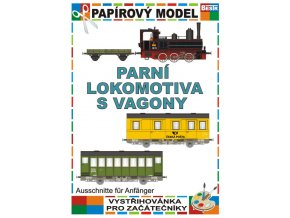 Parní lokomotiva s vagony